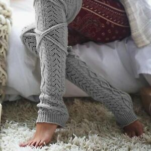 Girl Winter Long Warm Wool Knitting Knee High Socks Women Stockings