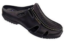 Phat Farm Mens Slip On Shoes Size 7.5M Black Leather Mules