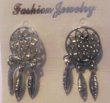 Ohrstecker Earrings Dreamcatcher Ohrring Feder Indianer Western Indianerschmuck.