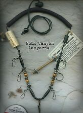 Fly Fishing Lanyard-USA Handcrafted w/Tippet Holder, Buffalo Horn, Natural Beads