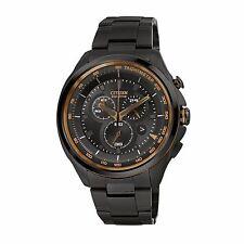 Citizen Eco-Drive Men's AT2187-51E Chronograph Copper Accents Black 44mm Watch