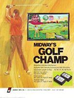 Golf Champ Arcade FLYER Original NOS Midway 1972 Wall Game Promo Artwork Sheet