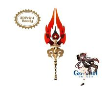 Hu Tao Cosplay - Staff of Homa Spear 3D Model STL file - Genshin Impact cosplay