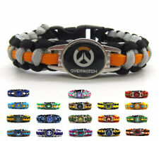 Overwatch 19 Heros D.Va Mercy Ana Bracelet Wristband Gift Accessories Keyring