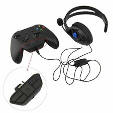 for Xbox One Controller Stereo Headset Audio Adapter Enables Mic Chat Game 3.5mm