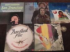 5 LP Dave Clark Five Dylan Scott Simon and Garfunkel Cat Stevens   VG+ to EX