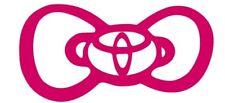 Kitty Bow Toyota Car Truck Suv vinyl sticker decal
