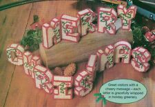 3-D HOLIDAY GREETING MERRY CHRISTMAS PLASTIC CANVAS PATTERN INSTRUCTIONS