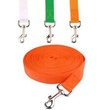 Nylon Dog Tracking Leash Recall Obedience Rope Long Line Lead Orange Green White