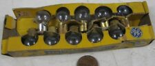 10 Vintage Miniature Train Light Bulbs Clear No 57 Toy GE Push-in