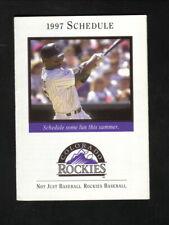 Colorado Rockies--Ellis Burks--1997 Pocket Schedule--Dugout Store