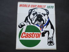 ORIGINAL CASTROL WORLD CUP RALLY 1970 CAR WINDOW ADVERTISING DECAL/STICKER