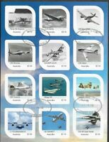 Australia- Aviation 100th Anniv Air Force cto m/s(12 stamps) 2021-limited print