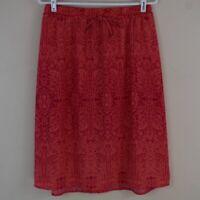 "Faded Glory Size Medium (8-10) Geometric & Floral Print Polyester Skirt 26"" Long"