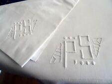 Luxurious French Vintage Cotton/Silk Sheet & Pillow Case – PS Monogram