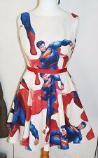 NEW SUPERMAN DC VINTAGE INSPIRED ROCKABILLY DRESS 12-14