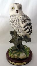 """Vtg The Gray Rock Collection Amy & Addy White Owl Figurine 8.25"""" Tall #5460"""