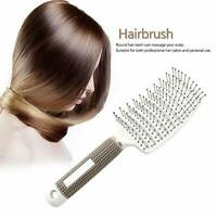 Boar Bristle Vent Hair Brush Blow Dryer Brush Curved Detangling Hair Brushes
