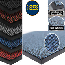 LARGE HEAVY DUTY NON SLIP RUBBER BACK BARRIER DOOR MAT KITCHEN HALLWAY FLOOR RUG