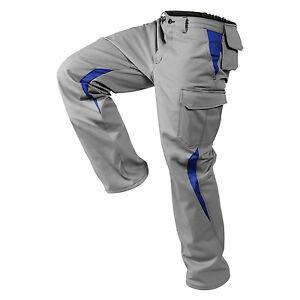 Bundhose/Arbeitshose Image-Dress New Design Mittelgrau/Blau Größen: 25-118