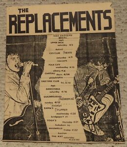 1983 The Replacements, Husker Du Concert Tour Poster MPLS Detroit NY Punk RARE