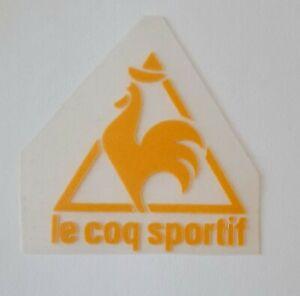 Yellow Retro Le coq Sportif Logo Flocked Vinyl Press on clothing football shirt