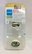 Mam Pacifier Camo Collection 16 Mos +, 2-Pack, Clear/Gecko , Bpa Free, Nip