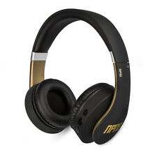 Veho NPNG NP-2 Bluetooth Over-Ear Headphones | Stereo | Mic | Black and Gold