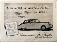 Armstrong Siddeley Star Sapphire Bristol Siddeley Engines Ltd. Vintage Ad 1959