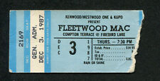 Original 1987 Fleetwood Mac Concert Ticket Stub Chandler AZ Tango In The Night