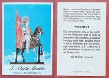 Santino Holy Card: S. Niceta Martire - Protettore di Melendugno