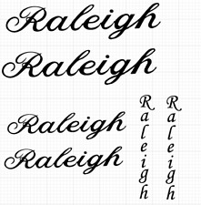 Replacement Frame Decals - Raleigh Script 1950's