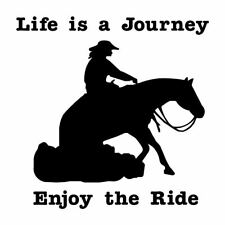 New listing Horse Decal Lady woman Reiner Life Journey Enjoy the Ride Cowboy truck car decal