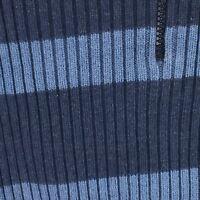 Tommy Hilfiger Jeans XL Womens 1/4 Zip Cotton Blend Blue On Blue Stripe