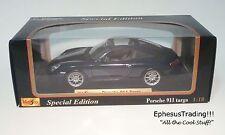 Maisto SE Porsche 911 996 Carrera Targa Coupe 3.6l Blue w/Gray 31627 1/18 MINT!