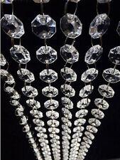 33Ft  DIy Clear Acrylic Crystal Bead Garland Chandelier Hanging Wedding Supplies