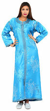 Caftan Kaftan Moroccan Takchita Wedding Gown Robe Abaya Handmade FreeBelt Blue