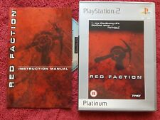 RED FACTION ORIGINAL PLATINUM RE-LEASE SONY PLAYSTATION 2 PS2 PAL