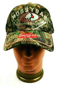 MOSSY OAK LICENSED CAMO Mens Hat Cap Stretch-Fit  w/ Mesh L/XL Camo Orange NWT