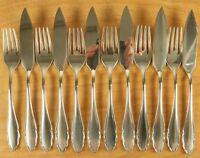 Fischbesteck WMF Modell 2200 Silber 90er Auflage für 6 Personen 12 Teile