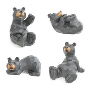 Whimsical Black Playing Bears (Your Choice) Wildlife Figurines Indoor Home Decor
