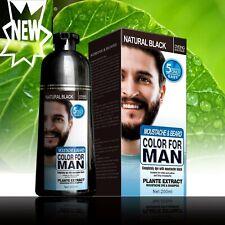 Black Beard Hair Dye Colour Permanent Shampoo Men Care Covering Gray 200ML