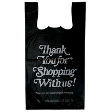 1/6 12x7.5x23 400/bx Retail T-Shirt Plastic Thank You Bags COMMERCIAL ADDRESS