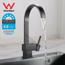 Black Plated Swivel Gooseneck Spout Kitchen Sink Mixer Tap Laundry Basin Faucet