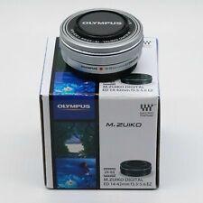 New Olympus M.Zuiko ED 14-42mm f/3.5-5.6 EZ Zoom Lens Silver Micro  4/3