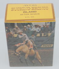 Vintage Full Avon Bucking Bronco Figural After Shave Decanter, Oland, New In Box