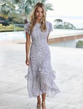 FOREVER NEW FLORAL JOSEPHINE FLUTTER SLEEVE MAXI DRESS BN SZ 16 Wedding Cocktail