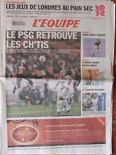 L'Equipe du 13/11/2008 - Le PSG - Simon - J.O de Londres - Basket : Nancy