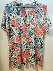 WOMENS S/S TEXTURED TOP BNWT'S - MILLERS/MULTI FLORAL/SIZE 18