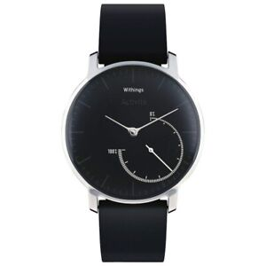 Withings Activité Steel 24/7 Automatic Activity Tracking Watch - Black/Steel